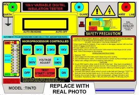 可应用于电缆绝缘电阻测量和其它需要高压绝缘测量的设备.